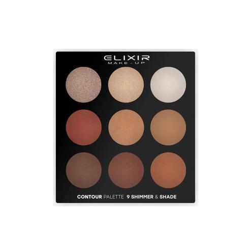 Paleta Contour 9 tonos Shimmer & Shade