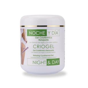 Gel Criotérmico Relajante Criogel 500ml Noche & Día -Cremas tonificantes y moldeadoras -Noche & Día