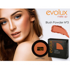Colorete compacto Evolux Blush Nº3 -Cara -Evolux Make Up