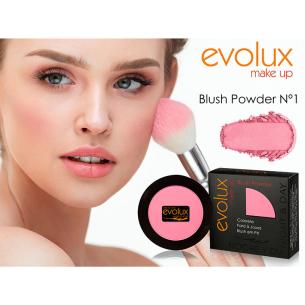 Colorete compacto Evolux Blush Nº1