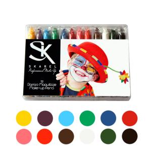 Kit de Barras de Maquillaje Disfraces12 Colores -Fantasía y FX -Skarel