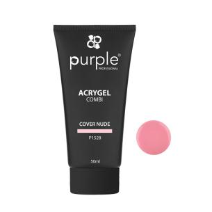 Acrygel Cover Nude 50ml Purple -Gel & Acrylic Nails -Purple Professional