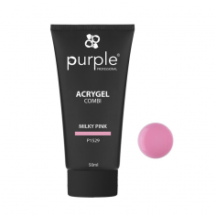 Acrygel Milky Pink 50ml Purple -Gel & Acrylic Nails -Purple Professional