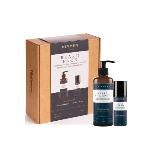 Pack Kinmen Beard - Champú + Crema -Packs de productos de barbería -Kin Cosmetics