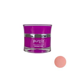 Polvo Acrílico Queen Vintage Pink Purple 30g -Uñas de gel y acrílico -Purple Professional