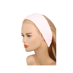 White Elastic Curl Turban -Make-up removers, bases and make-up fixers -