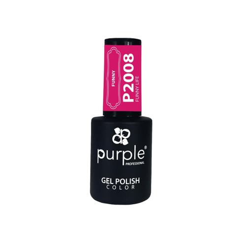 Gel Polish Funny Life Purple Nº2008 -Semi permanent enamel -Purple Professional