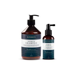 Pack anticaida Kinmen Force Champú + Tónico -Packs de productos de barbería -Kin Cosmetics