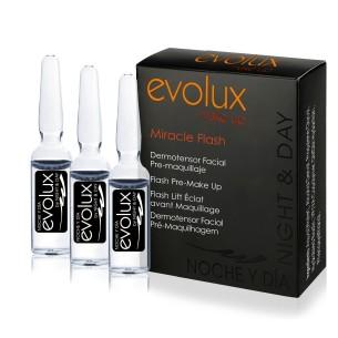 Ampollas Miracle Flash Evolux Dermo-Tensor Facial 3x2 ml -Desmaquillantes, Bases y fijadores de maquillaje -Evolux Make Up