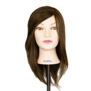 Cabeza de maniquí pelo natural 45 cm -Ferramentas de cabeleireiro -Giubra