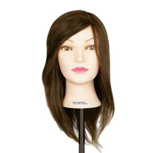Cabeza de maniquí pelo natural 45 cm -Hairdressing tools -Giubra