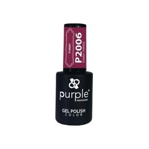 Gel Polish Funny Things Purple Nº2006 -Semi permanent enamel -Purple Professional