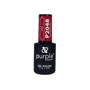 Esmalte Semipermanente Gel P2048 Love Barcelona Purple Professional -Esmalte semi permanente -Purple Professional