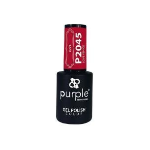 Esmalte Gel Love Venice Purple Nº2045 -Esmalte semi permanente -Purple Professional