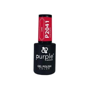 Esmalte Gel P2041 Love Porto Purple Professional -Esmalte semi permanente -Purple Professional