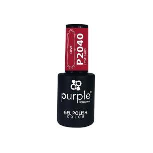 Gel Enamel Love Paris Purple Nº2040 -Semi permanent enamel -Purple Professional