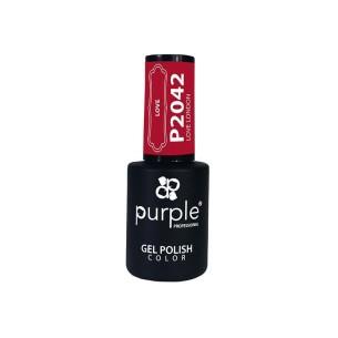 Gel Enamel Love London Purple Nº2042 -Semi permanent enamel -Purple Professional
