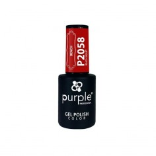 Gel polish Beach Heart 2058 Purple -Semi permanent enamel -Purple Professional