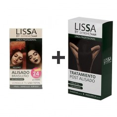 Alisado Lissa + Pack Mantenimiento Post Alisado (Champú Sin Sal + Mascarilla) -Hair product packs -Lissa