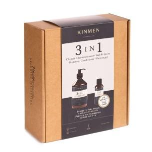 Kinmen 3 em 1 PACK Shampoo 500 + 100 ml. -Pacotes de produtos de barbearia -Kin Cosmetics