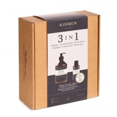 Kinmen 3 en 1 PACK Champú 500+100 ml. -Packs de productos de barbería -Kin Cosmetics