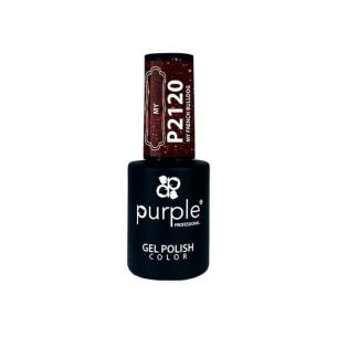 Esmalte Gel P2120 My French Bulldog Purple -Esmalte semi permanente -Purple Professional