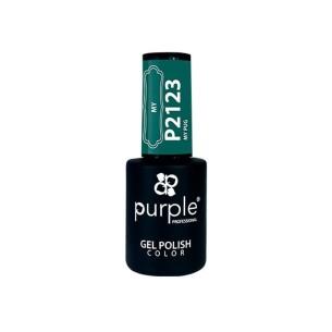 Gel Polish P2123 My Pug Purple Professional -Semi permanent enamel -Purple Professional
