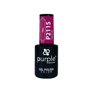Esmalte Gel P2115 Full Of Joy Purple Professional -Semi permanent enamel -Purple Professional