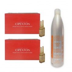 Pack Anticaída Ampollas Cipexton + Champú -Hair product packs -Liheto
