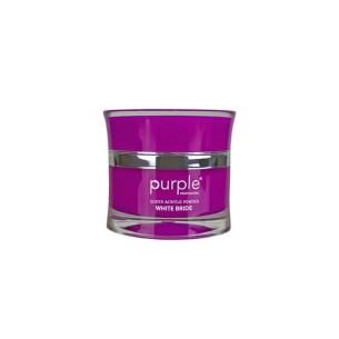 Polvo Acrílico Queen White Bride 50 g Purple -Uñas de gel y acrílico -Purple Professional