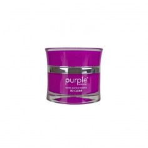 Polvo Acrílico Queen So Clear 50 g Purple -Uñas de gel y acrílico -Purple Professional