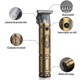 Máquina de Corte Zerocut Totem Oro Giubra Sin Cable -Cortapelos, Recortadoras y Afeitadoras -Giubra