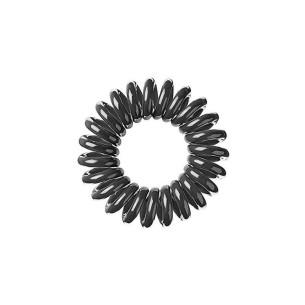 Goma de Pelo Invisible Negro 3 unidades -Horquillas, pinzas y coleteros -AG