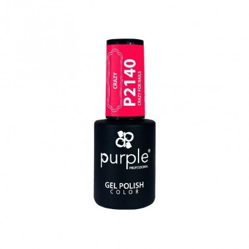 Esmalte Gel P2140 Crazy For Nails Purple -Semi permanent enamel -Purple Professional