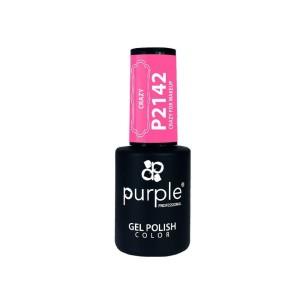 Esmalte Gel P2142 Crazy For MakeUp Purple -Semi permanent enamel -Purple Professional