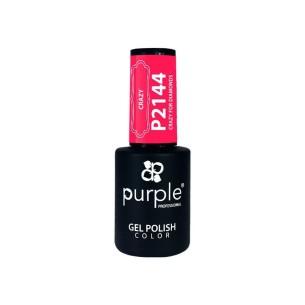 Esmalte Gel P2144 Crazy For Diamonds Purple -Semi permanent enamel -Purple Professional