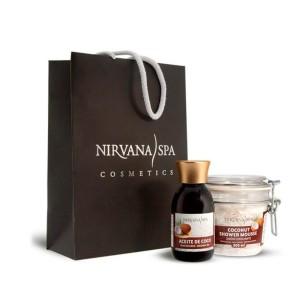 Bolsa Pack Coco Aceite + Jabón Mousse Exfoliante Nirvana Spa -Cremas hidratantes -Nirvana Spa