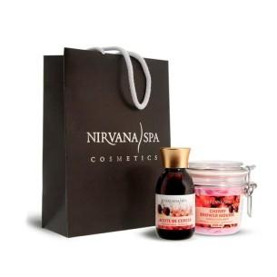 Bolsa Pack Cereza Aceite + Jabón Mousse Exfoliante Nirvana Spa -Cremas hidratantes -Nirvana Spa