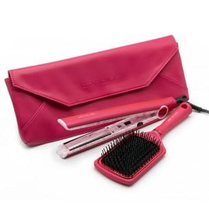 Plancha C1 Flower Collection Corioliss + Cepillo -Hair Straighteners, Tweezers and Curlers -Corioliss