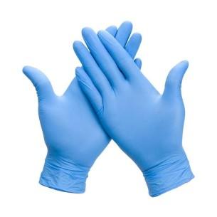 Guante Nitrilo Azul Sin Polvo Caja 100 uds. -Guantes -Cosméticos de la Rosa