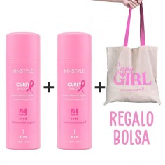 Pack 2 Kinstyle Curly Cream Pink Edition + GIFT Bag -Waxes, Pomades and Gummies -Kin Cosmetics