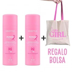 Pack 2 Potion Cream Kinstyle Pink Edition + Gift Bag -Waxes, Pomades and Gummies -Kin Cosmetics