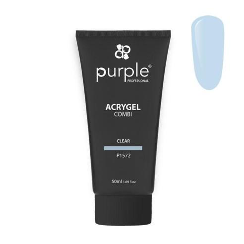 Acrygel Combi Clear Purple Professional 50ml -Gel & Acrylic Nails -Purple Professional