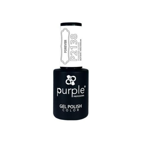 Esmalte Gel P2138 Forever Queen Purple Professiona -Semi permanent enamel -Purple Professional
